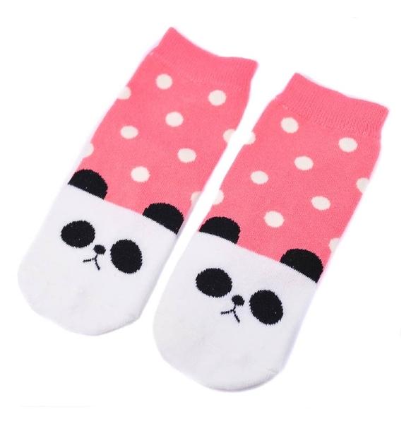可愛動物童襪 熊貓|童襪 小朋友襪子 兒童襪子 短襪 棉襪 台灣製【mocodo 魔法豆】