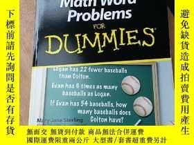 二手書博民逛書店Math罕見Word Problems For DummiesY