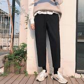 休閒褲男日系簡約寬鬆直筒長褲子秋季新款潮男士工裝百搭ins韓版