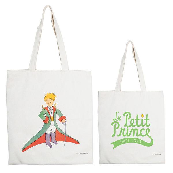 小王子經典版授權 - 大購物包:【狐狸】 米白 / 麻黃