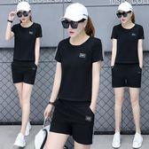 (批發價不退換)805#夏季純棉運動套裝女休閑短袖T恤時尚兩件套ZM-2FB150-A日韓屋