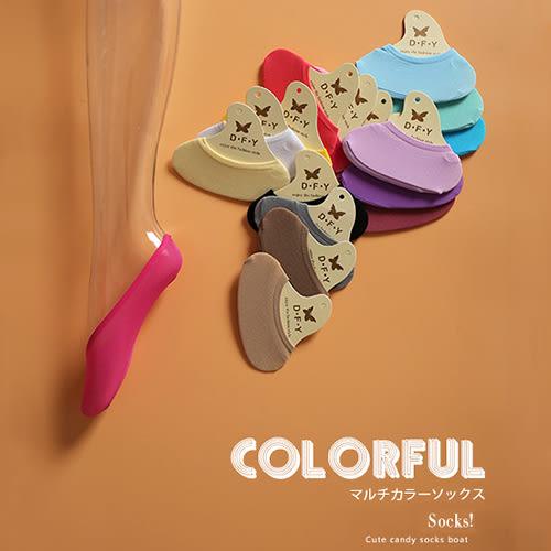 短襪 糖果色 淺口短襪 隱形襪 船型襪【KCAS86】 icoca 03/09