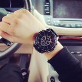 手錶新品全館免運歐美運動大表盤學生手錶時尚潮流行正韓女表潮男表【中秋節好康搶購】