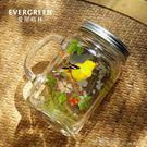 米蘭 愛屋格林果汁杯公雞杯創意家用玻璃水杯梅森杯啤酒杯子大容量帶蓋