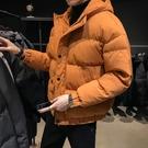 棉服 男士冬季外套面包服羽絨棉服保暖加厚日系棉衣韓版棉襖子潮流純色【快速出貨八折下殺】