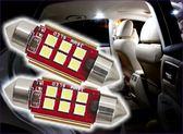 280A113  新款雙尖 紅板6燈31cm 白光單入 LED 小燈閱讀燈方向燈牌照燈室內燈定位燈迎賓燈倒車燈