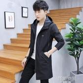 2020春秋季新款男士外套韓版夾克男裝休閒帥氣中長款風衣上衣服潮 韓語空間