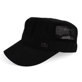 卡車帽帽子男天男士遮陽帽子透氣平頂帽太陽帽戶外鴨舌帽防曬網帽 快速出貨