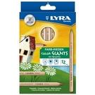 【德國 LYRA】3931120  六角原木彩色鉛筆 12色/盒