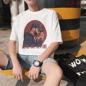 男士嘻哈短袖T恤港風寬鬆裝