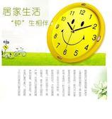 (百貨週年慶)卡通鐘錶笑臉米奇學生兒童房創意石英鐘大掛錶簡約靜音個性壁掛鐘