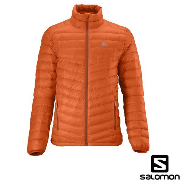 [法國SALOMON] Halo Down Jacket 男性帽羽絨衣夾克(橘) 352377
