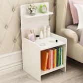 簡約現代床頭櫃簡易收納床櫃組裝小櫃子儲物櫃臥室宿舍組裝床邊櫃igo 享購