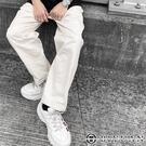【OBIYUAN】休閒褲 韓國製 厚磅 洗舊感 水洗 寬褲 長褲 共3色【Z95747】