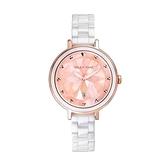 【Relax Time】Aurora極光系列珍珠母貝半陶瓷時尚腕錶-珍珠粉/RT-92-2/台灣總代理公司貨享一年保固