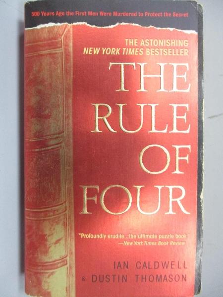 【書寶二手書T5/原文小說_MKV】The Rule of Four
