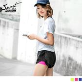 《KS0167》OB嚴選X伊林運動系列.假兩件夜跑反光拼接短褲.3色 OrangeBear