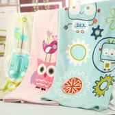Mini Love 珊瑚毯(1件入) 粉藍機器人/咖啡獅/粉紅貓頭鷹 3款可選【小三美日】冷氣毯/保暖毯
