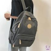 書包 大容量書包女ins 正韓大學生背包高中復古古著感校園多口袋雙肩包
