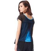 【MACACA】2in1 輕盈生活 bra top-ASG2231(黑/海藍)(瑜伽/慢跑/健身/運動)