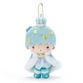 〔小禮堂〕雙子星 KIKI 絨毛玩偶娃娃吊飾《綠白》掛飾.鑰匙圈.星星皇冠系列 4901610-00247