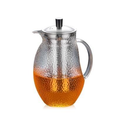 日式錘紋玻璃壺茶壺大容量內膽過濾花茶壺 萬客居