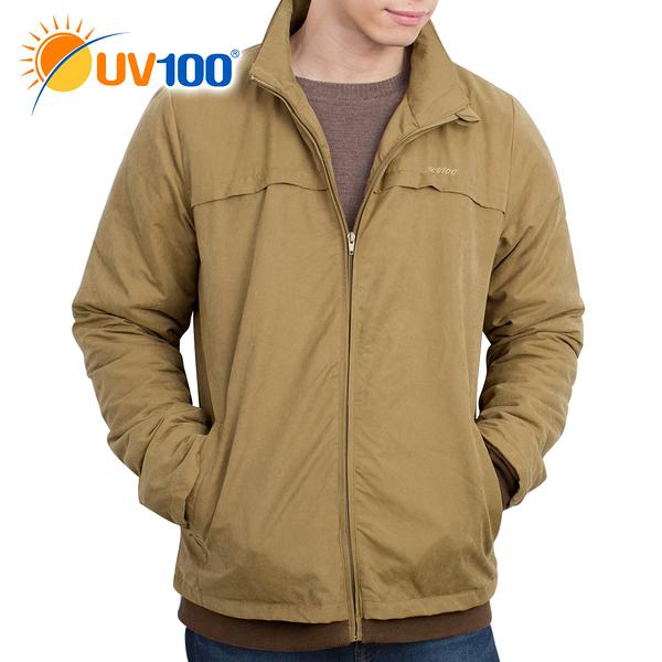 UV100 防曬 保暖舖棉連帽可拆外套-男