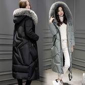羽絨外套 中長款-時尚寬鬆連帽保暖女夾克2色73it146[時尚巴黎]