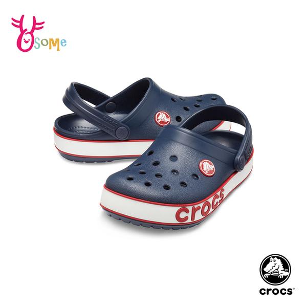 Crocs卡駱馳 洞洞鞋 中小童 經典造型 園丁鞋 防水布希鞋 A1726#藍色◆OSOME奧森鞋業