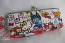 Hello Kitty 凱蒂貓 鐵扣橫式布筆袋 筆袋 969840