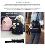 日韓版雙肩包女包包時尚學院風休閒旅行pu背包 免運