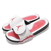 Nike 拖鞋 Jordan Hydro V Retro Slide 白紅 5 火焰 男鞋 AJ5 五代 運動拖鞋 【ACS】 555501-101