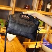 皮質手提包 女包單肩包手提包2019新款韓版簡約斜背包女時尚軟皮手拿包潮 4色