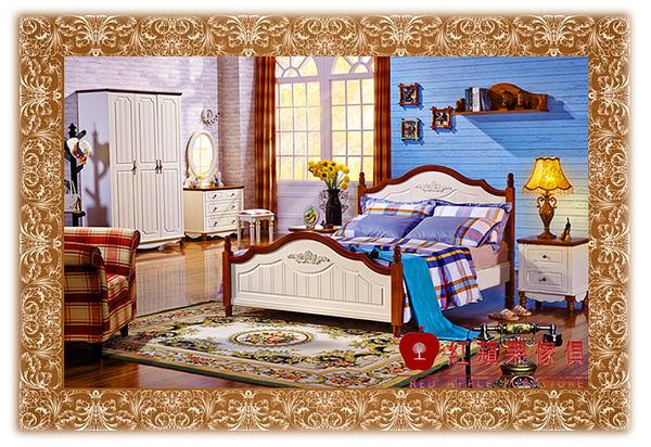 [紅蘋果傢俱 ] 232 北歐系列 單人床 雙人床 床 5尺 6尺 實木 實體賣場