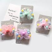 粉嫩色系蝴蝶結毛球兒童髮夾 頭髮造型用品 蝴蝶結髮夾