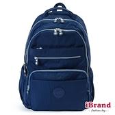 iBrand後背包 經典百搭超輕盈多口袋後背包-深海藍 TGT-1604