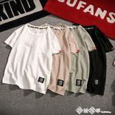 夏季純色亞麻短袖t恤男棉麻半袖體恤潮流韓版寬鬆打底衫男裝上衣  西城故事