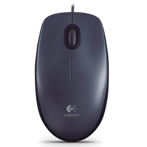 羅技USB有線光學滑鼠M90黑灰【愛買】