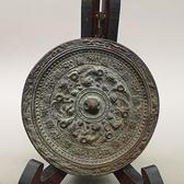 古玩 漢代青銅鏡 避邪招財仿古銅鏡圓形花鳥銅鏡