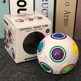 智力兒童寶寶玩具益智魔方魔力彩虹球創意手指異形足球  育心小館