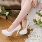 現貨 MIT小中大尺碼婚鞋推薦 花漾女神 經典內增高跟鞋 19-26 EPRIS艾佩絲-浪漫白色
