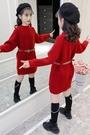 女童上衣 女童毛衣裙春裝2021新款兒童套頭中長款童裝打底針織衫冬季【快速出貨八折鉅惠】