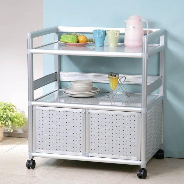 YoStyle 鋁合金2.5尺二門收納櫃(黑花格) 泡茶櫃 活動架  鐵架 鋁架 小吃店 餐廳 碗盤櫃
