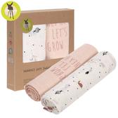 德國Lassig-超柔手感竹纖維嬰兒包巾毯2入-莓果花園