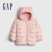 Gap女嬰兒 閃亮風格熊耳連帽長袖外套 473936-粉色