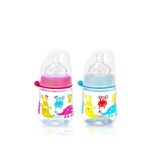 nip 德國圓型防脹氣PP奶瓶-150ml 桃紅/藍 (M號奶嘴) x 1 G-35076/G-35077