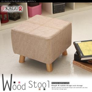 JP Kagu 貓抓皮沙發椅凳40cm大方凳原木椅腳粉色