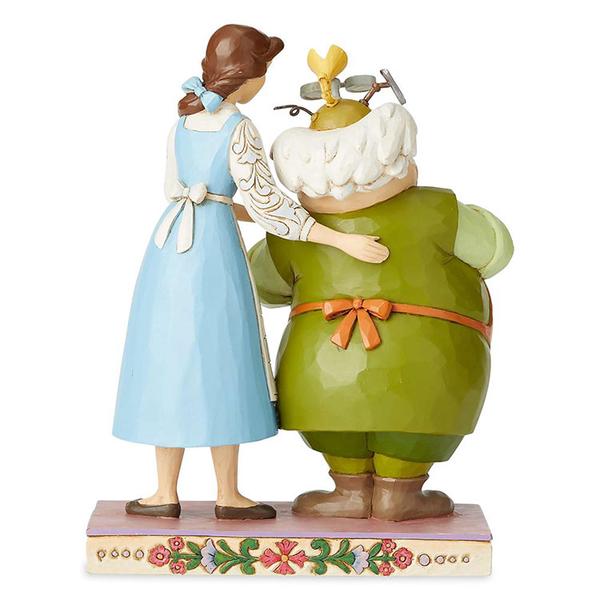 Enesco Disney 迪士尼公主 美女與野獸貝兒與父親塑像_EN14414