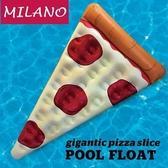游泳圈 超大-披薩造型搶眼創意水上活動坐騎浮板73ez4【時尚巴黎】