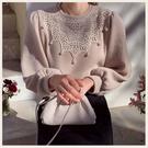 ✦Styleon✦正韓。甜美蕾絲圓領珍珠針織上衣。韓國連線。韓國空運。0108。